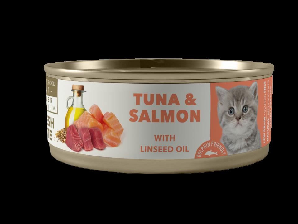 Atún con salmón con aceite de linaza KITTEN